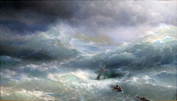 Ivan Aivazovsky Painting - Marine Art - Translucent Waves